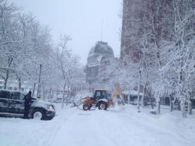 Digging out in Providence Saturday morning
