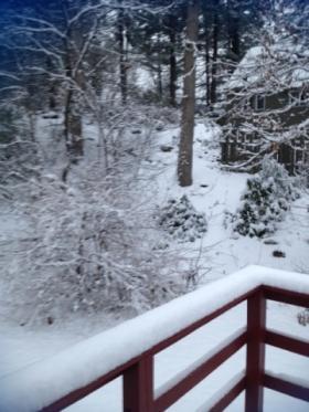 Snowfall in Hope, RI