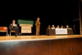 Education Sec. Arne Duncan participated in a town hall at the Providence Career and Technical Academy Nov. 2011
