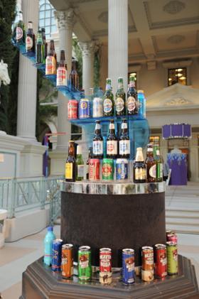 Beer bottle display