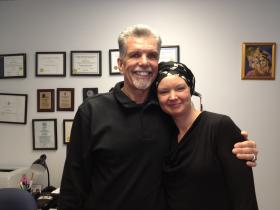 Jim Gillen with The Providence Center's Sara Szeglowski.