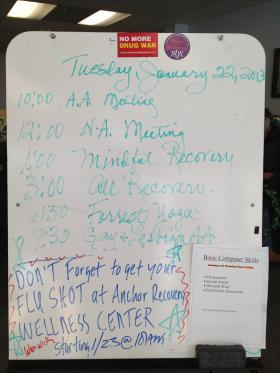 Daily schedule at the Anchor