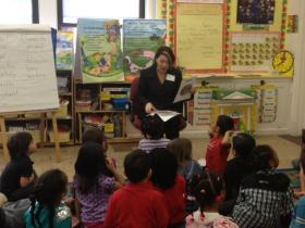 Education Commissioner Deborah Gist visits Carl G. Lauro Elementary School in Providence