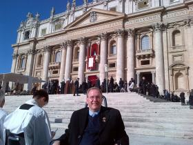 Congressman Jim Langevin witnessed the induction of Pope Francis