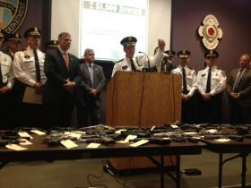 Providence police say although there were five more murders, overall crime dropped by 4 percent in 2012.