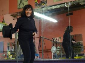 Theresa Landry Tap Dances in her Pawtucket Studio
