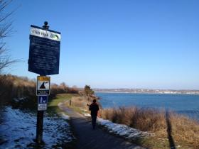 The state Department of Transportation wants to rebuild part of Newport's Cliff Walk.