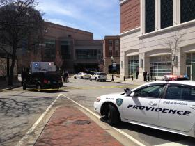 Providence Police respond to a suspicious package.