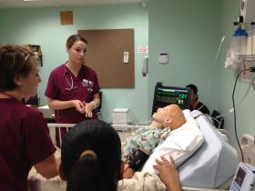 Rhode Island College nursing students gain practice during a simulation