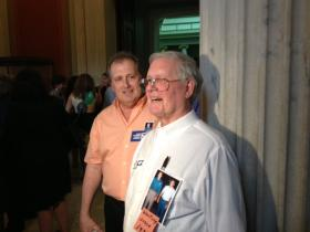 Larry Bacon (left) and David Burnett of Newport, Rhode Island have been waiting to get married since 1976.