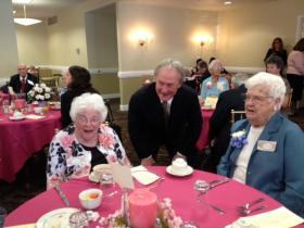 Gov. Lincoln Chafee mingles with centenarians