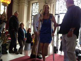 Heather Abbott, at Rosecliff Mansion in Newport for her 'welcome home' party.