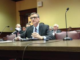 Marcel Valois at last week's Senate Committee meeting.