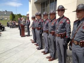 Rhode Island State Police paused Thursday to remember the fallen.