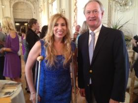 Heather Abbott with Gov. Lincoln Chafee.
