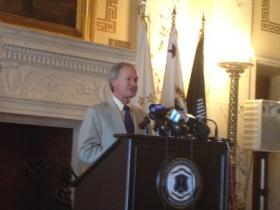 Governor Lincoln Chafee is urging the state to pay off the money owed for loans on 38 Studios following a downgrade from Moody's.