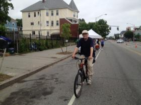 Bicyclists had a section of Broad St. to themselves Sunday for the Cyclovia event.