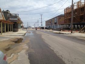 Atlantic Avenue in Westerly is still in need of repair, after being destroyed by superstorm Sandy last year.