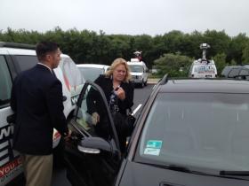 Terri Serra leaving Washington County Courthouse