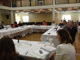 The Board of Education retreat held at Rhode Island College.