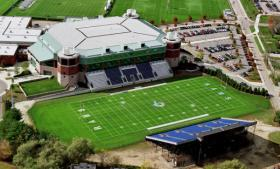 Meade Stadium, the Rams' home field at URI's Kingston campus.