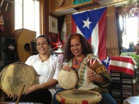 Lydia Perez and her daughter Yidell Rivera in their studio.