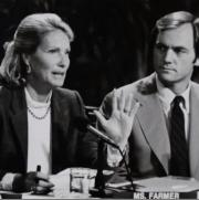Susan Farmer was the first woman elected to a state-wide office in Rhode Island when elected as Sec. of State in 1982.