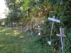 Crosses left at the site of the Station Nightclub.