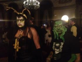 A couple roams the ballroom at the Biltmore Hotel this summer at the HP Lovecraft Ball.