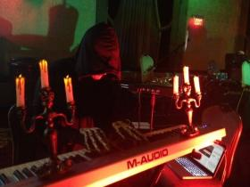 Another spooky organ player; at the H.P. Lovecraft Ball in Providence. Not Mark Steinbach. Probably.