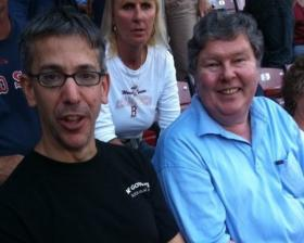 Rhode Island Public Radio's Political Team, Ian Donnis and Scott MacKay enjoying a Red Sox game.