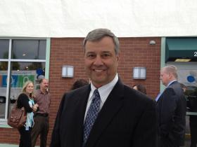 BCBSRI CEO Peter Andruszkiewicz at the opening of the insurer's retail store in Warwick.