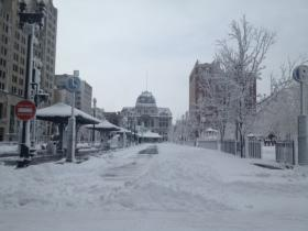 Remember this?  Kennedy Plaza in downtown Providence after the February 2013 blizzard.  Goodbye summer.