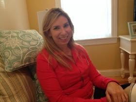 Heather Abbott at home in Newport