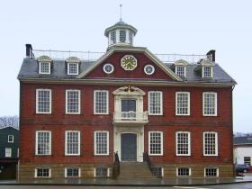 "The ""Old Colony"" house in Newport, formerly Rhode Island's state house."