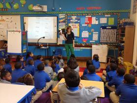 Emily James teaches a first grade class at Providence's first Achievement First charter elementary school.