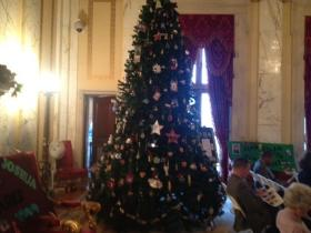 The 2013 Christmas tree at the Rhode Island Statehouse.