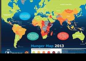 The United Nation's World Food Programme's 2013 Hunger Map highlights hunger hotspots around the globe.