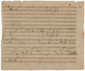 The rare Beethoven manuscript going up for auction in New Hampshire.