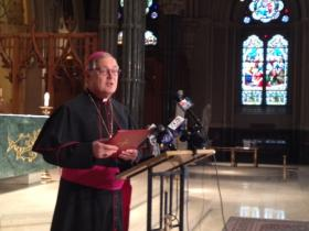 Catholic Bishop Thomas Tobin is calling for changes to the mass to help prevent the spread of the flu.