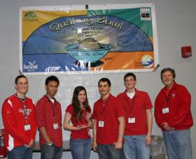 Last year's Quahog Bowl first place team was Cranston High School West. Steve Krous (far right) coaches the school's ocean science bowl team and chairs the school's science department. His teams have won first place numerous times at the regional Quahog Bowl.