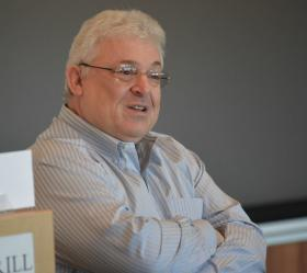 Art Caplan, medical ethicist with NYU's Langone Medical Center, speaking at a Poynter seminar for journalists on January 24, 2014.