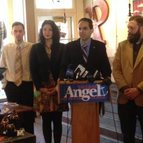 Providence Mayor Angel Taveras wants to increase the state's minimum wage to $10.10 by 2018