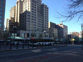 Downtown Providence, recently proposed as a location for a state probitition office.