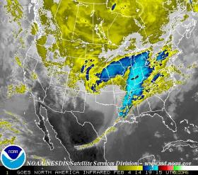 National Weather Service said Wednesday's storm could dump up to ten inches, and another storm could hit Sunday night.