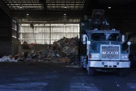 The recycling facility at the Rhode Island Resource Recovery Corporation.