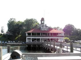 The Edgewood Yacht Club clubhouse before it was destroyed by a fire.