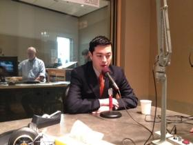 Central Falls Mayor James Diossa at the RIPR studios.