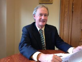 Gov. Chafee joins President Barack Obama in Connecticut to promote an increase in the federal minimum wage.