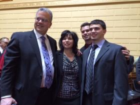 Mattiello with his wife, Mary Ann, and their two sons.